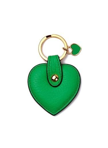 Leather & Paper Deri Kalp Anahtarlık Yeşil